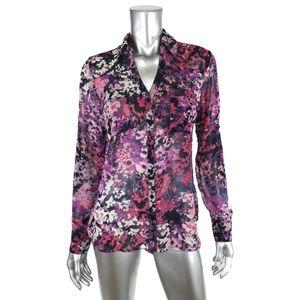 Express S Small Portofino Shirt Multicolor Floral